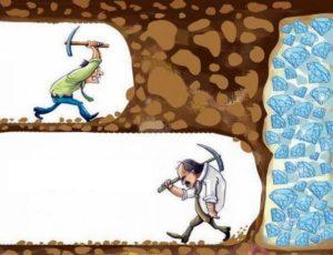 ゴール直前で諦める『あと一歩で成功』の画像